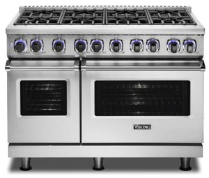 "VGR74828GSS Viking 48"" Professional 7 Series Gas Range with Vichrome Griddle and Viking Elevation Burners - 8 Burners - Natural Gas  - Stainless Steel"