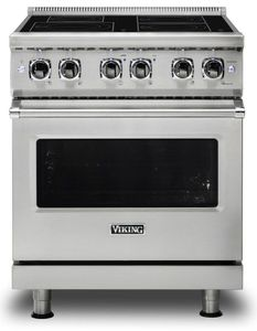 "VIR5304BSS Viking 30"" Free Standing Induction Range with MagneQuick and RapidReady Preheat - Stainless Steel"