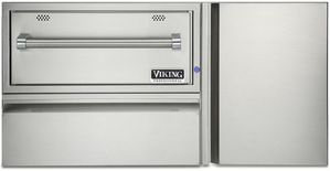 "VQEWD5421SS Viking 42"" Professional 5 Series Out Door Convenience Center with Warming Drawer and Indicator Light - Weather Resistant Stainless Steel"
