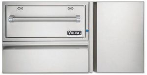 """VQEWD5420SS Viking 42"""" Professional 5 Series Out Door Convenience Center with Warming Drawer and Indicator Light - Weather Resistant Stainless Steel"""