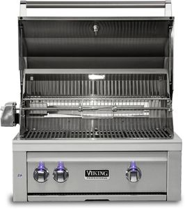 "VQGI5301NSS Viking Professional 5 Series 30"" Natural Gas Built-In Grill with ProSear Burner and Rotisserie - Stainless Steel"