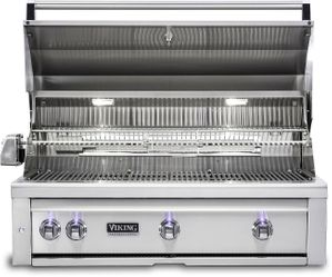 """VQGI5361LSS Viking Professional 5 Series 36"""" Liquid Propane Built-In Grill with ProSear Burner and Rotisserie - Stainless Steel"""