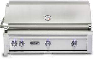 "VQGI5421LSS Viking Professional 5 Series 42"" Liquid Propane Built-In Grill with ProSear Burner and Rotisserie - Stainless Steel"