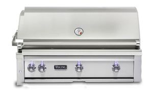 """VQGI5420NSS Viking Professional 5 Series 42"""" Natural Gas Built-In Grill with ProSear Burner and Rotisserie - Stainless Steel"""
