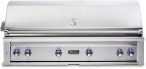 "VQGI5541LSS Viking Professional 5 Series 54"" Liquid Propane Built-In Grill with ProSear Burner and Rotisserie - Stainless Steel"