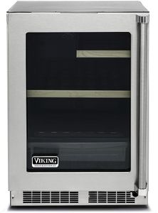 "VRUI5240GLSS 24"" Viking Professional 5 series Undercounter Compact Beverage Center with Electronic Controls and Dynamic Cooling Technologies - Left Hinge - Stainless Steel"