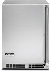 """VRUO5240DLSS Viking 24"""" Undercounter Outdoor Refrigerator with Dynamic Cooling Technology and Integrated Controls - Left Hinged - Stainless Steel"""