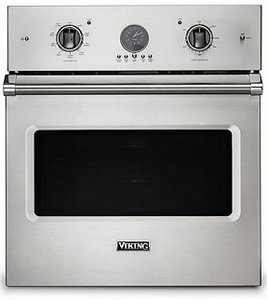 """VSOE527SS Viking 27"""" Professional 5 Series Built-In Electric Single Premier Oven with Exclusive Black Chrome Knobs and VariSpeed Dual Flow Convection System - Stainless Steel"""
