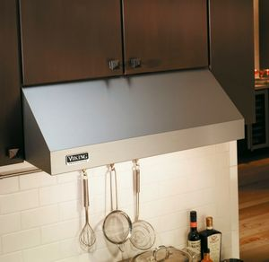 """VWH3010SS Series Viking 30"""" Wide 10"""" High Wall Mount Hood with Standard Interior-Power Ventilator Pro Series - Stainless Steel"""
