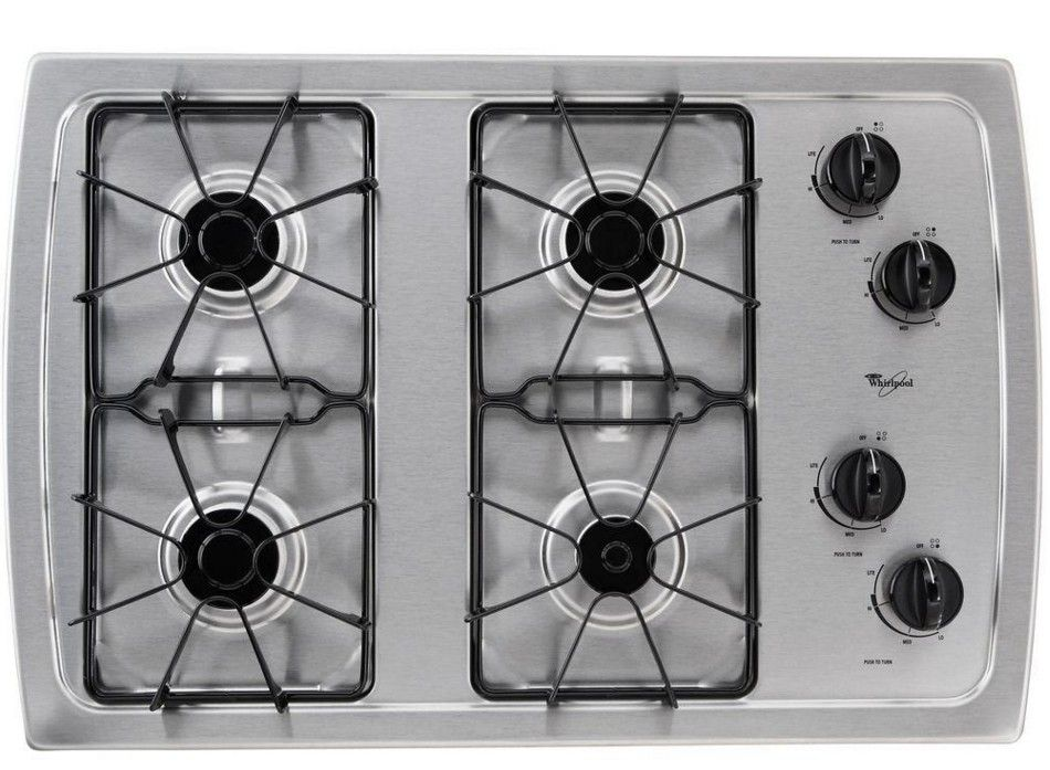 W3cg3014xs Whirlpool 30 Gas Cooktop Stainless Steel Code 19526 Manufacturer Model