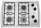 """W3CG3014XS Whirlpool 30"""" Gas Cooktop - Stainless Steel"""