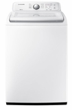 "WA45N3050AW Samsung 27"" Top Load Washer with VRT Plus Technology and Self Clean - White"
