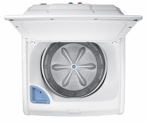 """WA45N3050AW Samsung 27"""" Top Load Washer with VRT Plus Technology and Self Clean - White"""