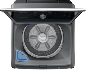 """WA45T3400AP Samsung 27"""" 4.5 cu ft Top Load Washer with Active Water Jet - Platinum"""