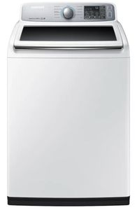 """WA50M7450AW Samsung 27"""" 5.0 cu. ft. High-Efficiency Top Load Washer with Self Clean and VRT Plus Technology - White"""