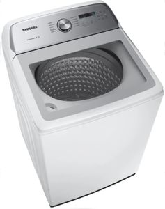 """WA50R5200AW Samsung 27"""" Large 5.0 cu. ft. Capacity Top Load Washer with Super Speed and Active WaterJet - White"""