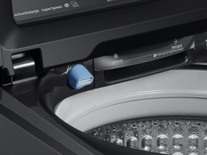 """WA50R5400AV Samsung 27"""" EZ Access Top Load Washer with Super Speed and Active WaterJet - Fingerprint Resistant Black Stainless Steel"""