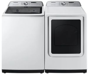 "WA50R5400AW Samsung 27"" EZ Access Top Load Washer with Super Speed and Active WaterJet - White"