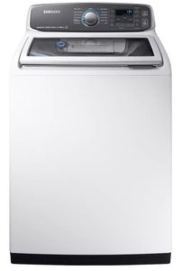 """WA52M7750AW Samsung 27"""" 5.2-cu ft High-Efficiency Top-Load Washer with Activewash and VRT Plus Technology - White"""