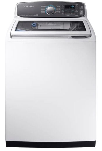 "WA52M7750AW Samsung 27"" 5.2-cu ft High-Efficiency Top-Load Washer with Activewash and VRT Plus Technology - White"