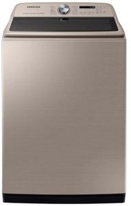 """WA54R7600AC Samsung 27"""" 5.4 cu. ft. Top Load Washer with Super Speed and Steam - Champagne"""