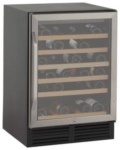 """WCR506SS Avanti 24"""" Undercounter Wine Chiller with LED Lighting an 6 Vinyl Coated Roll-Out Shelves - Stainless Steel"""