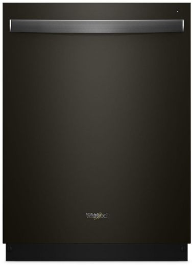 """WDT730PAHV Whirlpool 24"""" Top Control Built-In Tall Tub Dishwasher with Sensor Cycle and 5 Wash Cycles - Black Stainless Steel"""