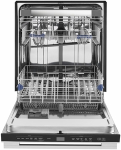 "WDTA75SAHZ Whirlpool 24"" Smart Dishwasher with Sensor Cycle and TotalCoverage Spray Arm - Fingerprint Resistant Stainless Steel"