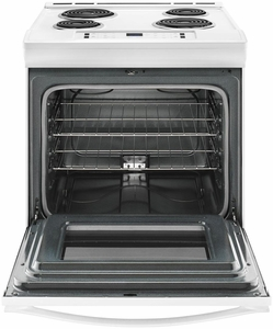 "WEC310S0FW 30"" Whirlpool 4.6 cu. ft. Slide-In Electric Range with Sabbath Mode - White"