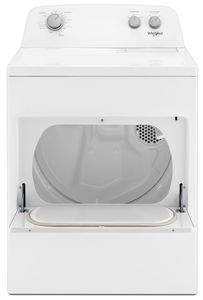 "WED4850HW Whirlpool 29"" 7.0 cu. ft Electric Dryer with AutoDry Drying System and Wrinkle Shield Option - White"