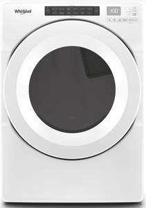 """WED5620HW Whirlpool 27"""" 7.4 Cu. Ft. Electric Dryer with Advanced Moisture Sensing and EcoBoost Options - White"""
