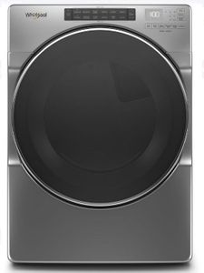 "WED6620HC 27"" Whirlpool 7.4 cu. ft. Front Load Electric Dryer with EcoBoost Option and Quad Baffle - Chrome Shadow"