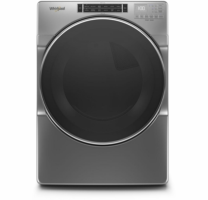 Wed6620hc 27 Whirlpool 7 4 Cu Ft Front Load Electric Dryer With Ecoboost Option And Quad Baffle