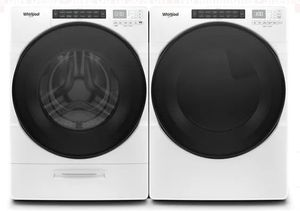 "WED6620HW 27"" Whirlpool 7.4 cu. ft. Front Load Electric Dryer with EcoBoost Option and Quad Baffle - White"