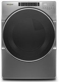 """WED8620HC 27"""" Whirlpool 7.4 cu. ft. Front Load Electric Dryer with Steam Refresh Cycle and Intuitive Controls - Chrome Shadow"""