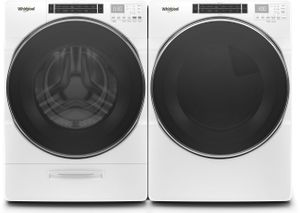 "WED8620HW 27"" Whirlpool 7.4 cu. ft. Front Load Electric Dryer with Steam Refresh Cycle and Intuitive Controls - White"