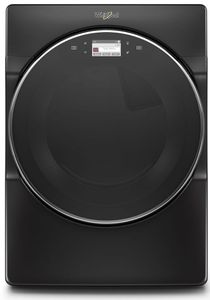 "WED9620HBK 27"" Whirlpool 7.4 cu. ft. Smart Front Load Electric Dryer with Steam Refresh Cycle and Intuitive Controls - Black Shadow"