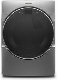 """WED9620HC 27"""" Whirlpool 7.4 cu. ft. Smart Front Load Electric Dryer with Steam Refresh Cycle and Intuitive Controls - Chrome Shadow"""
