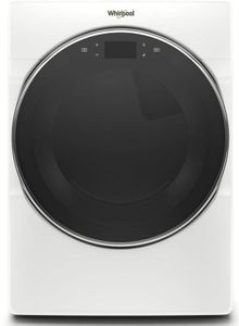 """WED9620HW 27"""" Whirlpool 7.4 cu. ft. Smart Front Load Electric Dryer with Steam Refresh Cycle and Intuitive Controls - White"""
