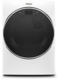 "WED9620HW 27"" Whirlpool 7.4 cu. ft. Smart Front Load Electric Dryer with Steam Refresh Cycle and Intuitive Controls - White"