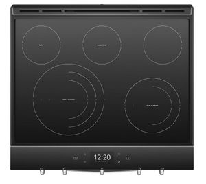 "WEE750H0HZ Whirlpool 30"" Smart Slide-In Electric Range with Frozen Bake Technology and True Convection Cooking - Fingerprint Resistant Stainless Steel"