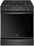 "WEG750H0HB Whirlpool 30"" Smart Slide-In Electric Range with Frozen Bake Technology and True Convection Cooking - Black"