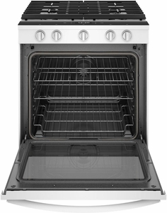 """WEG750H0HW Whirlpool 30"""" Smart Slide-In Gas Range with Frozen Bake Technology and True Convection Cooking - White"""