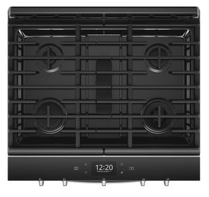 "WEG750H0HZ Whirlpool 30"" Smart Slide-In Gas Range with Frozen Bake Technology and True Convection Cooking - Fingerprint Resistant Stainless Steel"