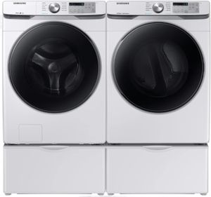 "WF45R6100AW Samsung 27"" Front Load Washer with Self Clean and Smart Care - White"