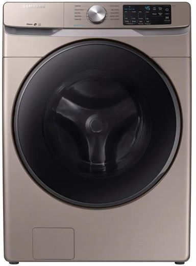 """WF45R6100AC Samsung 27"""" Front Load Washer with Self Clean and Smart Care - Champagne"""