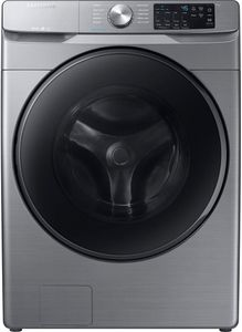 "WF45R6100AP Samsung 27"" Smart 4.5 cu. ft. Front Load Washer with Self Clean and Smart Care - Platinum"