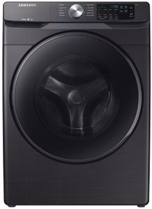 "WF45R6100AV Samsung 27"" Front Load Washer with Self Clean and Smart Care - Fingerprint Resistant Black Stainless Steel"