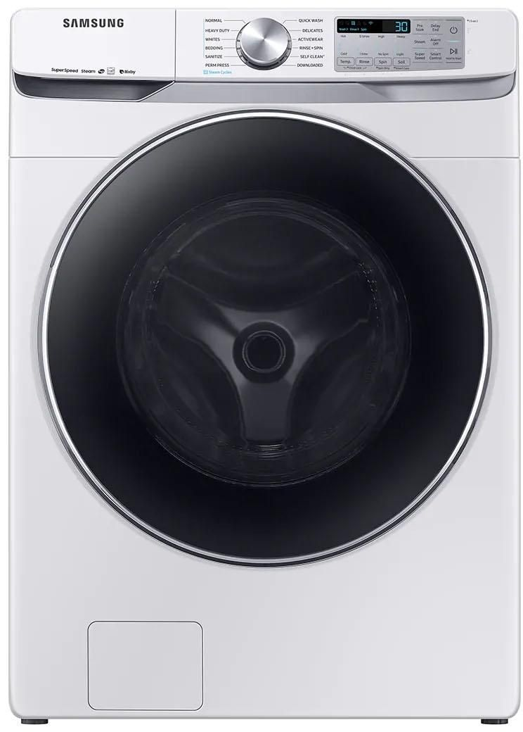 Wf45r6300aw Samsung 27 Smart 4 5 Cu Ft Front Load Washer With Super Speed And Steam White