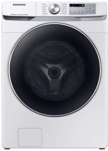 """WF45R6300AW Samsung 27"""" Bixby Enabled Front Load Washer with Super Speed and Steam - White"""